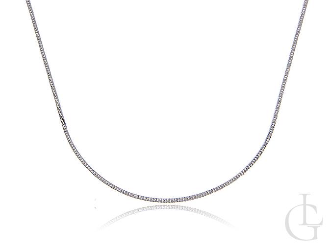 Srebrny łańcuszek damski pr.0,925 KOSTKA