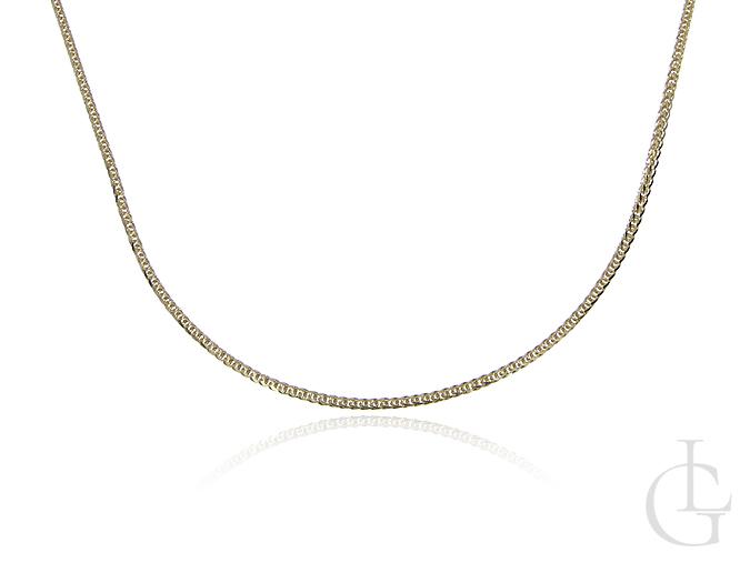 Złoty łańcuszek pr.0,585 o splocie Lisi Ogon diamentowany
