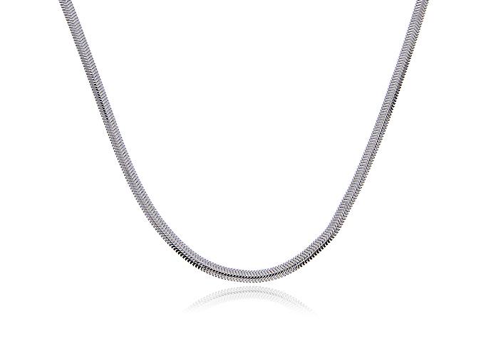 Łańcuszek srebrnypr.0,925 półokrągła taśma