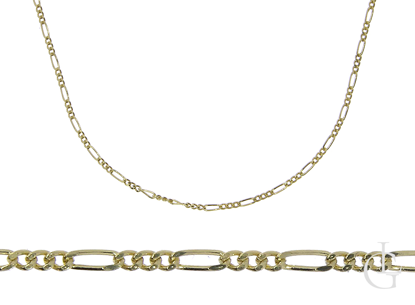 Złoty łańcuszek pr.0,585 splot figaro na prezent
