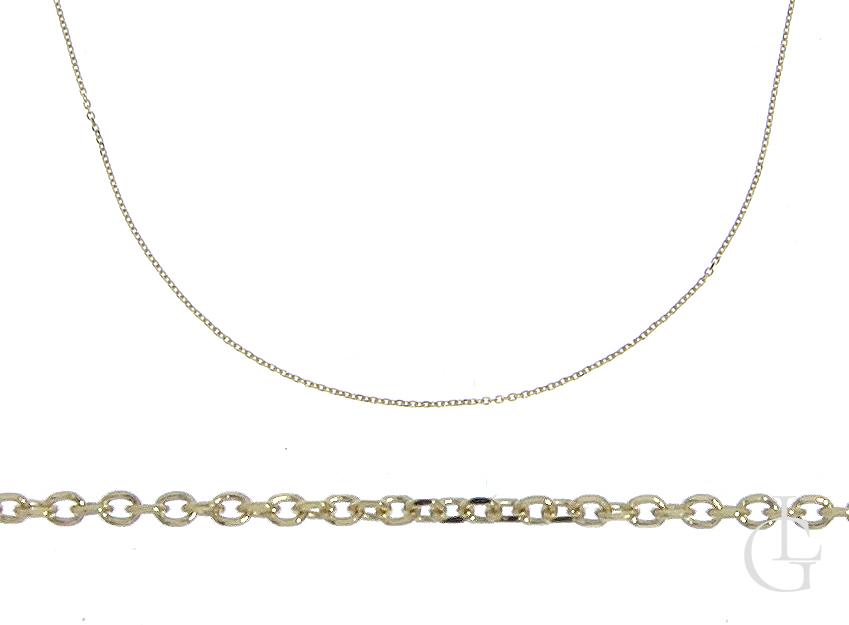 Złoty łańcuszek pr.0,585 z regulacją splot ANKIER na prezent