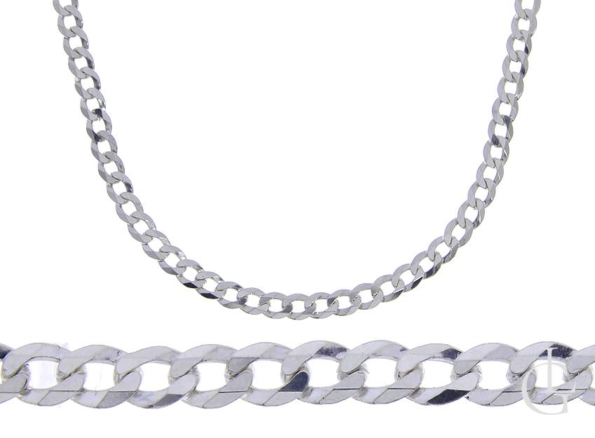 Łańcuszek ze srebra pr.0,925 pełny splot Pancerka