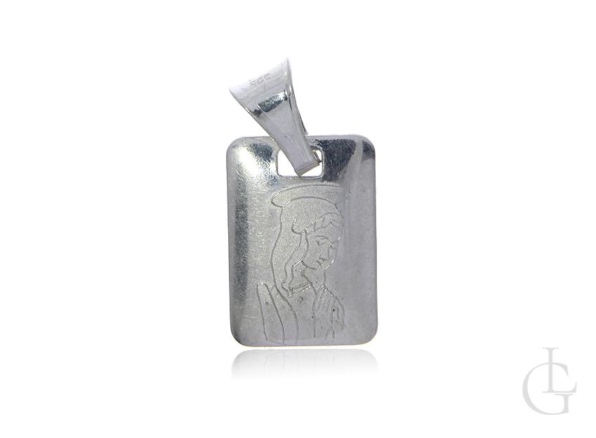 Srebrny medalik pr.0,925 z aniołem stróżem
