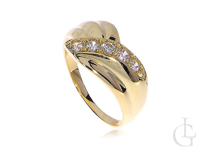 Ekskluzywny pierścionek złoty zaręczynowy