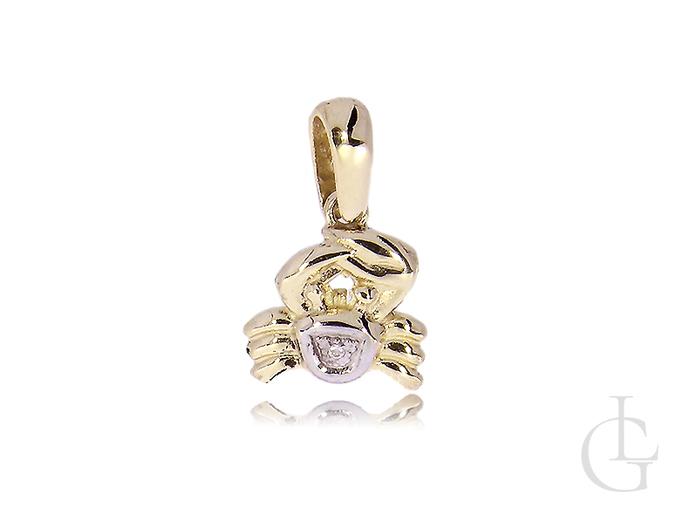 Znak zodiaku rak wisiorek złoty PR.0,585 na łańcuszek