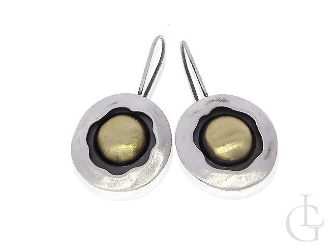 Kolczyki srebrne damskie okrągłe wiszące