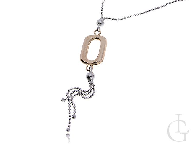 Ekskluzywny naszyjnik damski srebrny pozłacany z zawieszką