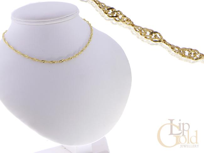 Złoty łańcuszek damski złoto pr.0,585 splot SINGAPUR