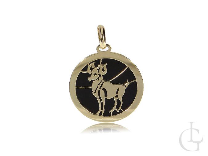 Znak zodiaku baran złota zawieszka na łańcuszek złoto 14K