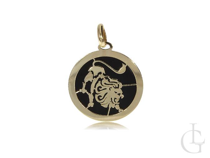 Znak zodiaku złota zawieszka na łańcuszek złoto 14K
