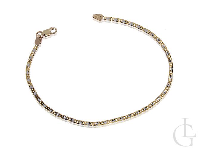 Złota delikatna bransoletka damska ozdobna złoto 14K 585