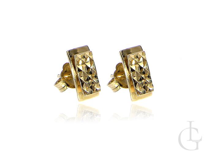 Złote kolczyki zapięcie sztyft delikatne małe złoto żółte 14K 585