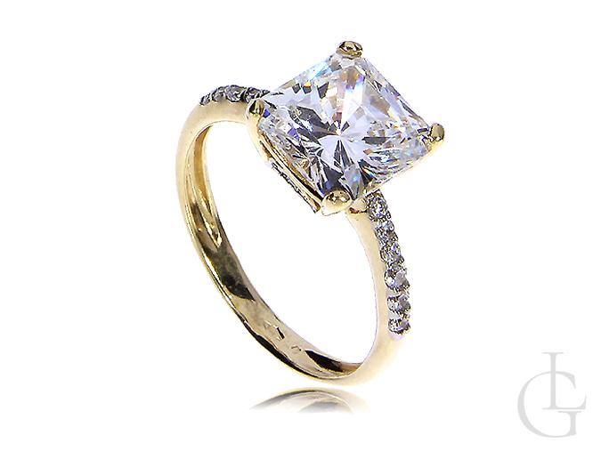 Złoty pierścionek zaręczynowy złoto żółte 14K 585