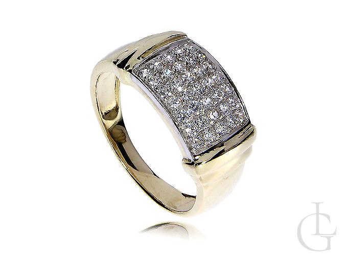Ekskluzywny złoty pierścionek z cyrkoniami złoto 14K 585