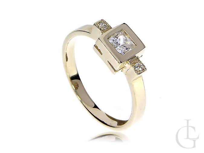 Złoty pierścionek zaręczynowy złoto 14K 585