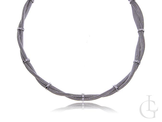 Naszyjnik damski srebrny gruby zawijany srebro 0.925