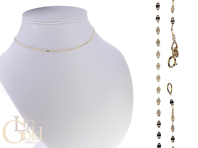 Delikatny złoty łańcuszek na wisiorek złoto żółte pr. 0.585 14K