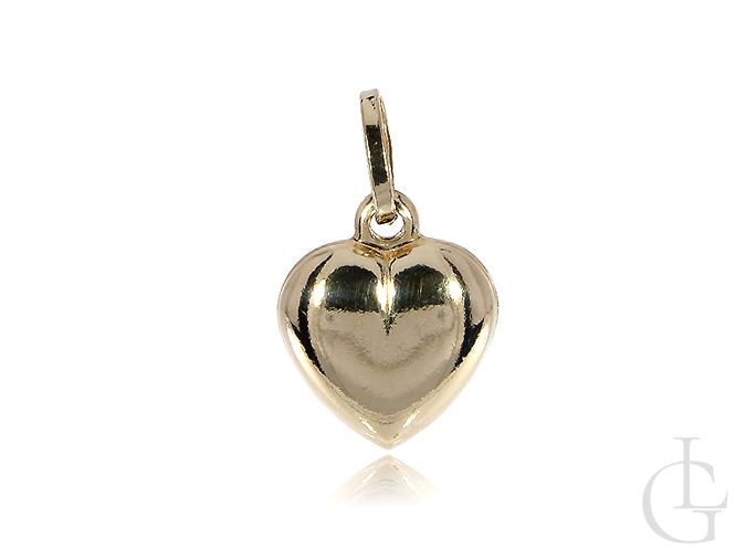 Złote serce wisiorek na łańcuszek złoto żółte pr. 0.585 14K