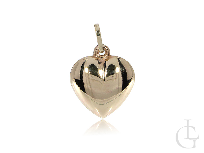 Serce złoty wisiorek na łańcuszek złoto żółte pr. 0.585 14K