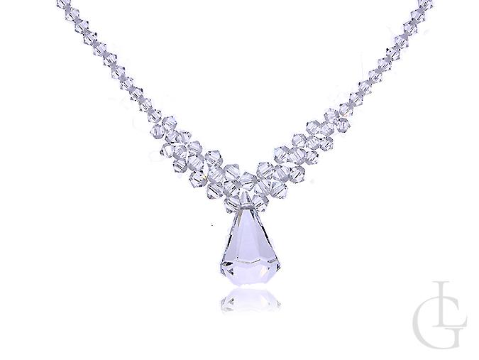 Elegancki naszyjnik damski kryształy Swarovskiego