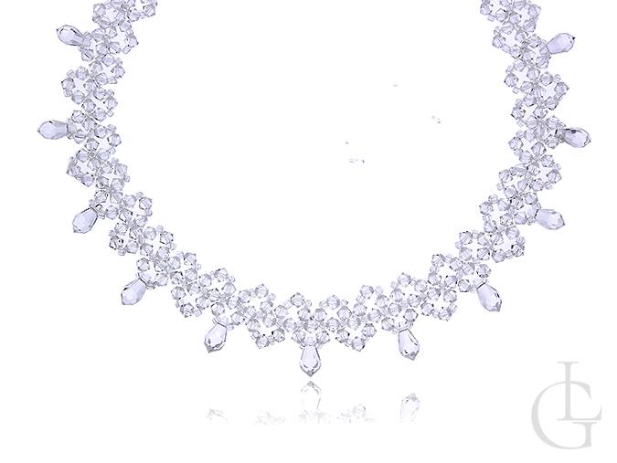 b4cce157fe0dd6 Biżuteria ślubna naszyjnik srebrny z kryształami Swarovskiego srebro ...