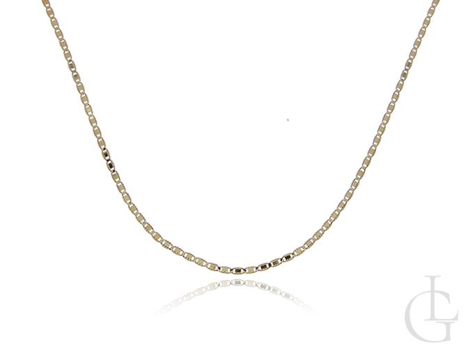Złoty łańcuszek VALENTINO pr. 0,585 na prezent  Komunia Święta, Chrzest święty, Bierzmowanie