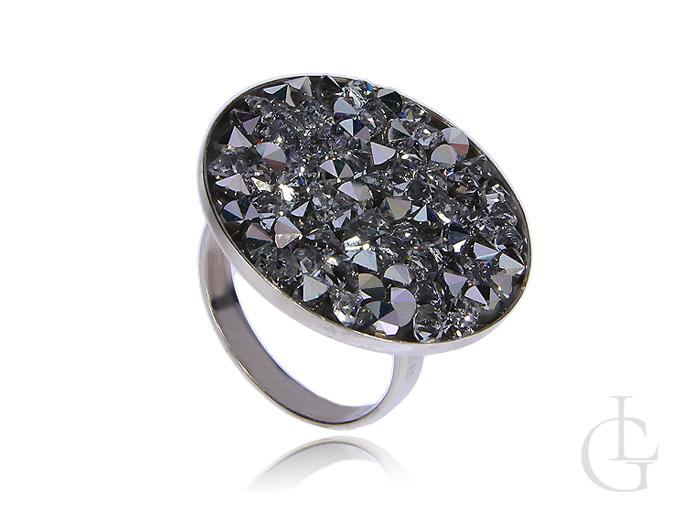 Swarovski pierścionek srebrny z kryształami srebro 0.925