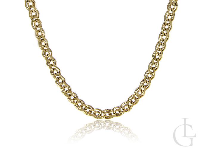 Złoty łańcuszek splot mona lisa