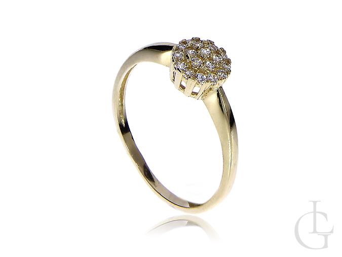 Złoty pierścionek zaręczynowy klasyczny