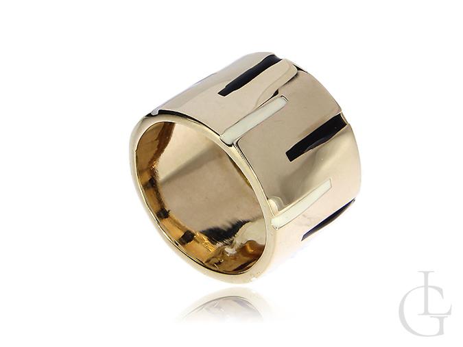 Złoty pierścionek obrączka damska