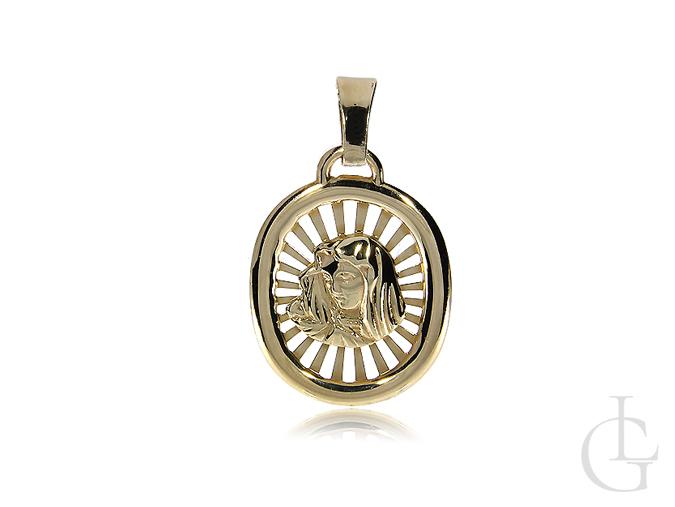 Złoty medalik z Matką Boską