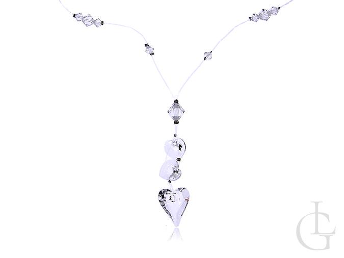 Naszyjnik damski z serduszkiem kryształy Swarovskiego