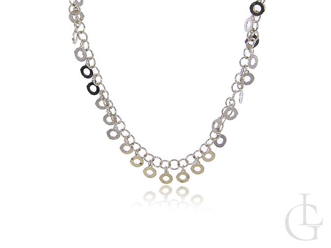 Naszyjnik damski srebrny kółeczka