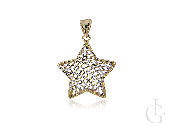 Złoty wisiorek gwiazdka ażurowa