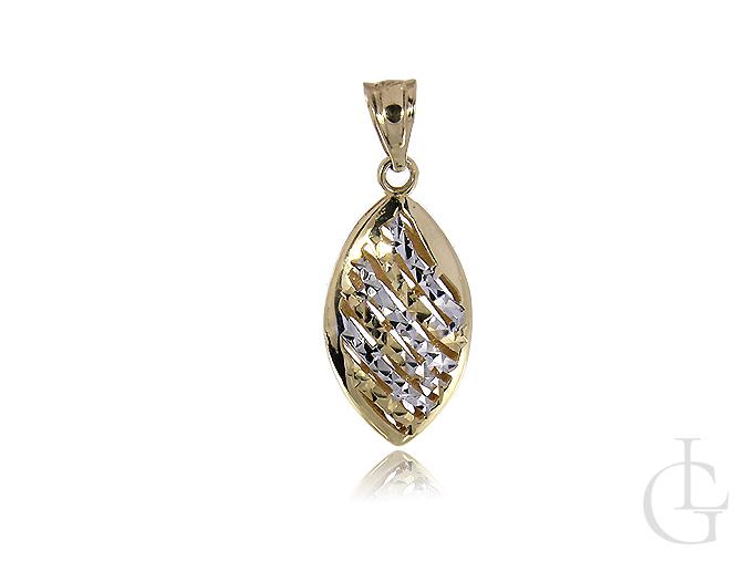 Złoty wisiorek łezka diamentowana na łańcuszek