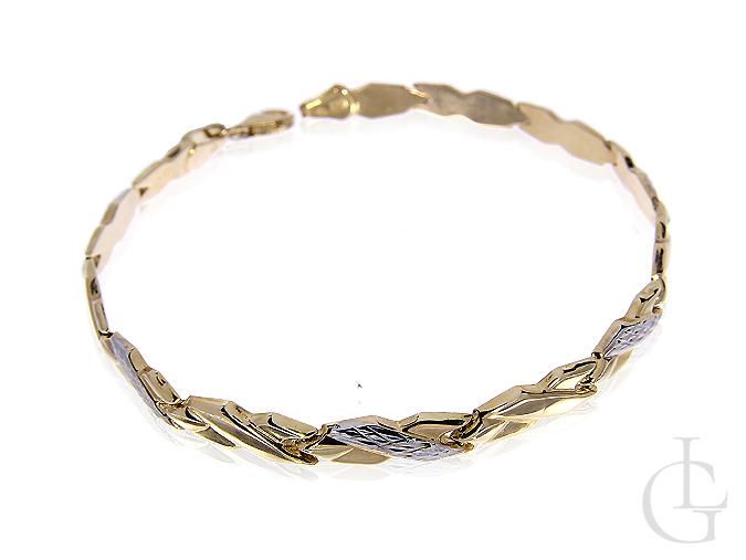Złota elegancka bransoletka damska