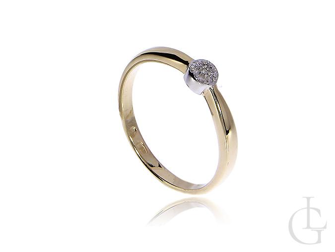 Złoty pierścionek pr.0,585 z brylantami