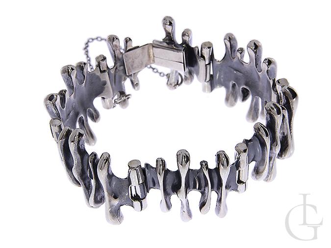 Ekskluzywna bransoleta ze srebra oksydowanego pr.0,925