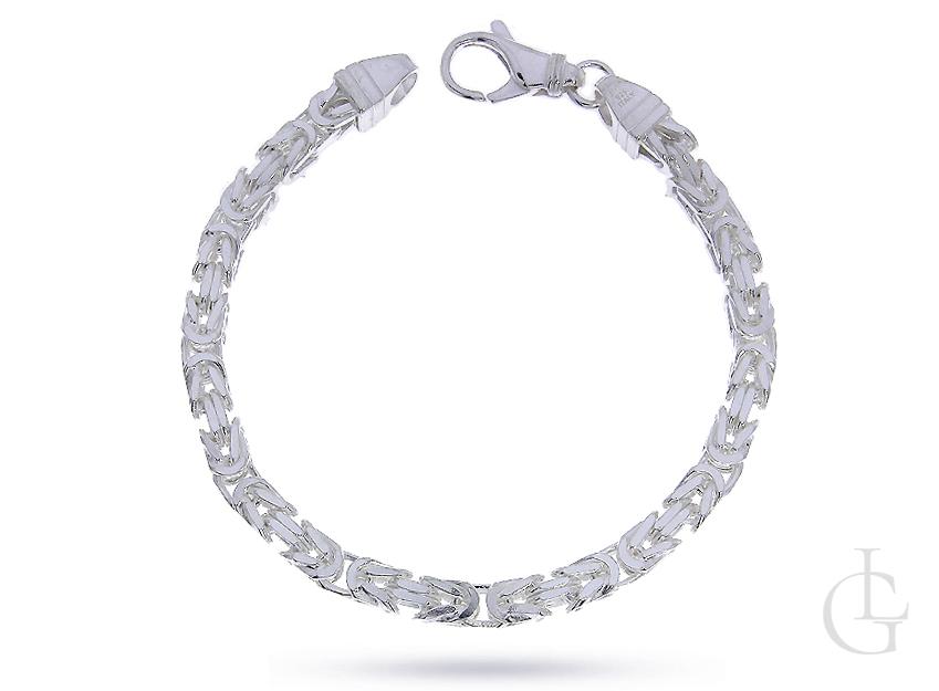 Bransoleta łańcuszkowa ze srebra pr.0,925 pełny splot KRÓLEWSKI