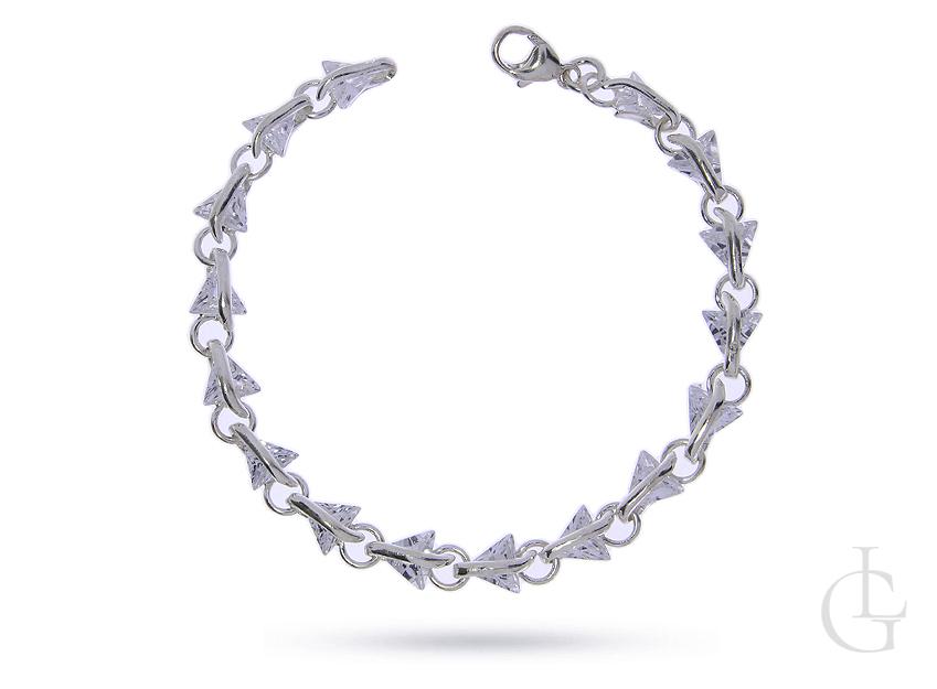 Bransoleta srebrna pr.0,925 z cyrkoniami