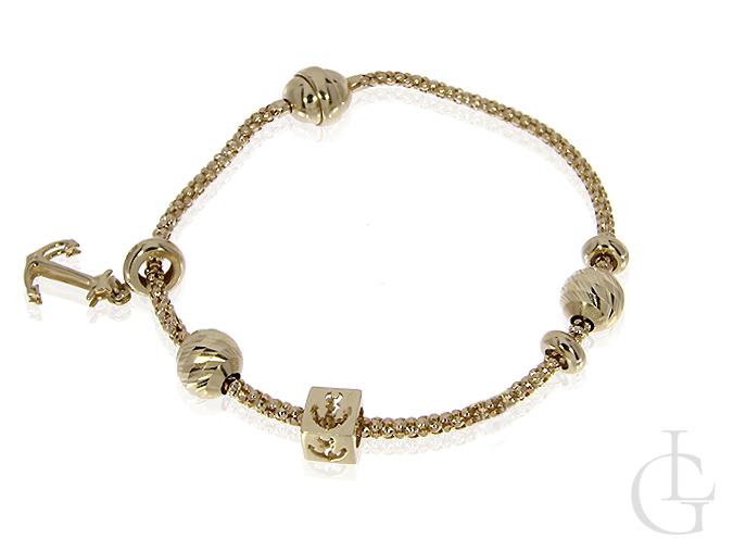 Bransoletka złota modułowa beads