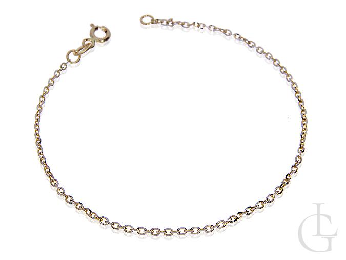 Złota bransoletka łańcuszkowa pr.0,585 ogniwkowa na prezent