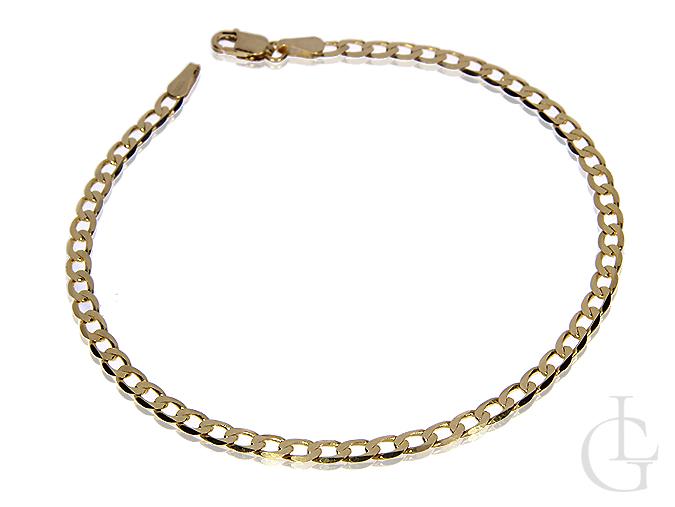 Złota bransoleta pr.0,585 o pełnym splocie Pancerka