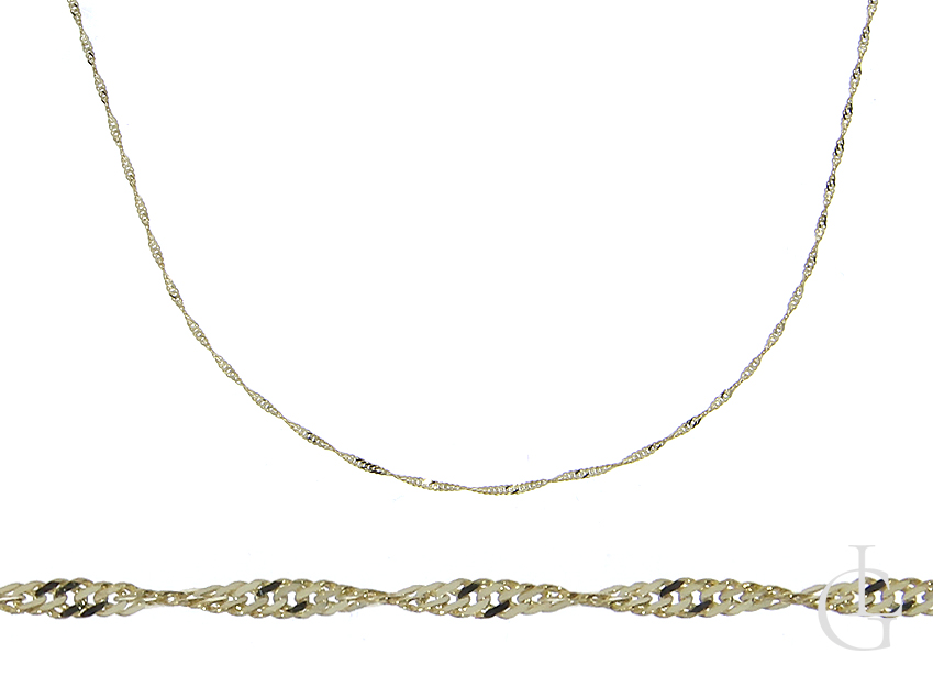 Złoty łańcuszek pr.0,585 splot SINGAPUR