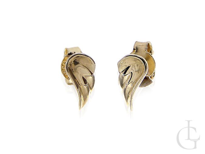Kolczyki ze złota pr.0,585 skrzydła