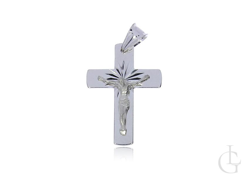 Srebrny krzyżyk pr.0,925 z ukrzyżowanym Panem Jezusem