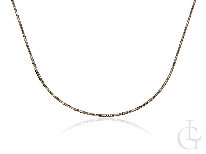 Złoty łańcuszek pr.0,585 o pełnym splocie LISI OGON diamentowany
