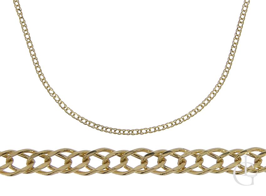 Złoty łańcuszek splot Rombo złoto pr.0,585