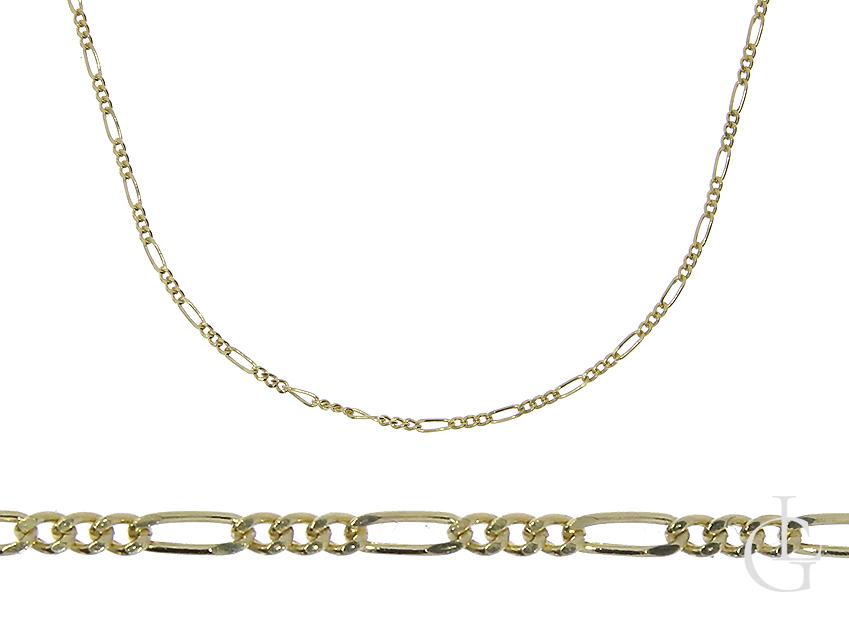 Złoty łańcuszek pr.0,585 splot figaro na prezent Chrzciny Komunia