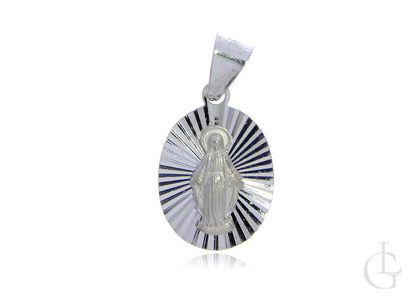 Srebrny medalik pr.0,925 z wizerunkiem Matki Bożej Niepokalanej- cudowny medalik